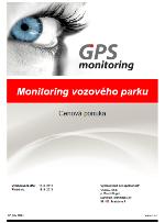 Vzor cenovej ponuky pre GPS monitoring