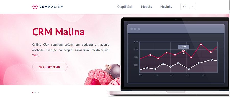 Nový web www.crmmalina.sk